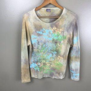AMERICAN COLORS Nature Print Tye Dye Long Sleeve